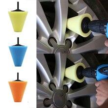 80mm Car Polisher Tyres Wheel Wheel Hub Tool Burnishing Foam Sponge Polishing Pad  Polishing Machine Cone-shape Wheel Hubs Disk
