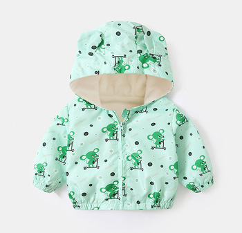 LZH 2020 Autumn Winter Newborn Baby Clothes For Baby Boys Jacket Baby Dinosaur Print Outerwear Coat For Infant Baby Girls Jacket 12