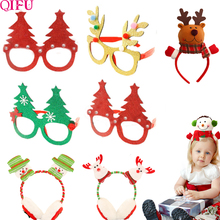 QIFU Merry Christmas Ornaments items Party Glasses Frame Decoration 2018 Diy New Year 2019 Xmas