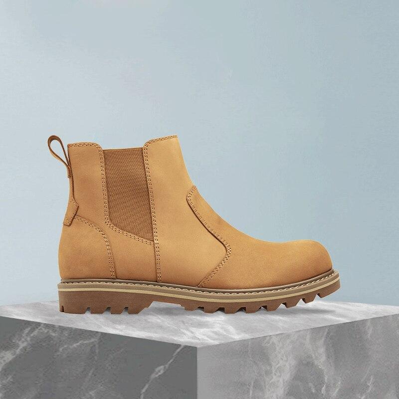 Xiaomi Nhà Thám Hiểm Nam Mắt Cá Chân Giày Da Bò Da Giày Chelsea Boot Thời Trang Phong Cách Anh Quốc Ngắn Nam Giày Mùa Đông Xuân Khởi Động