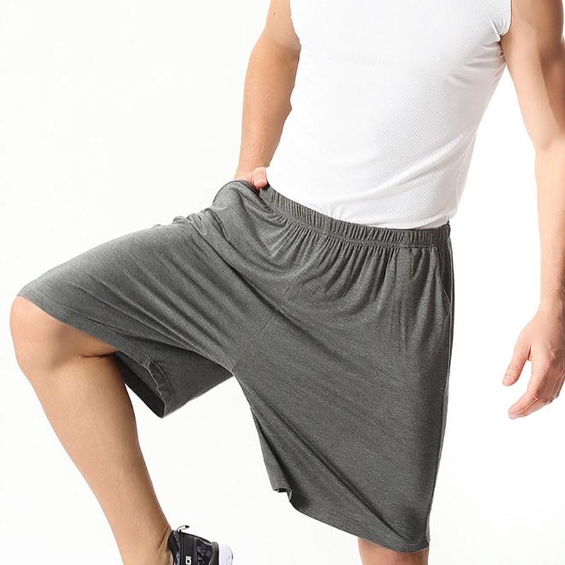 7XL Black Plus Size 95% Cotton Men's Home Pajamas Pants Loose Fat Large Size Pants Casual Outer Shorts Men Fashion