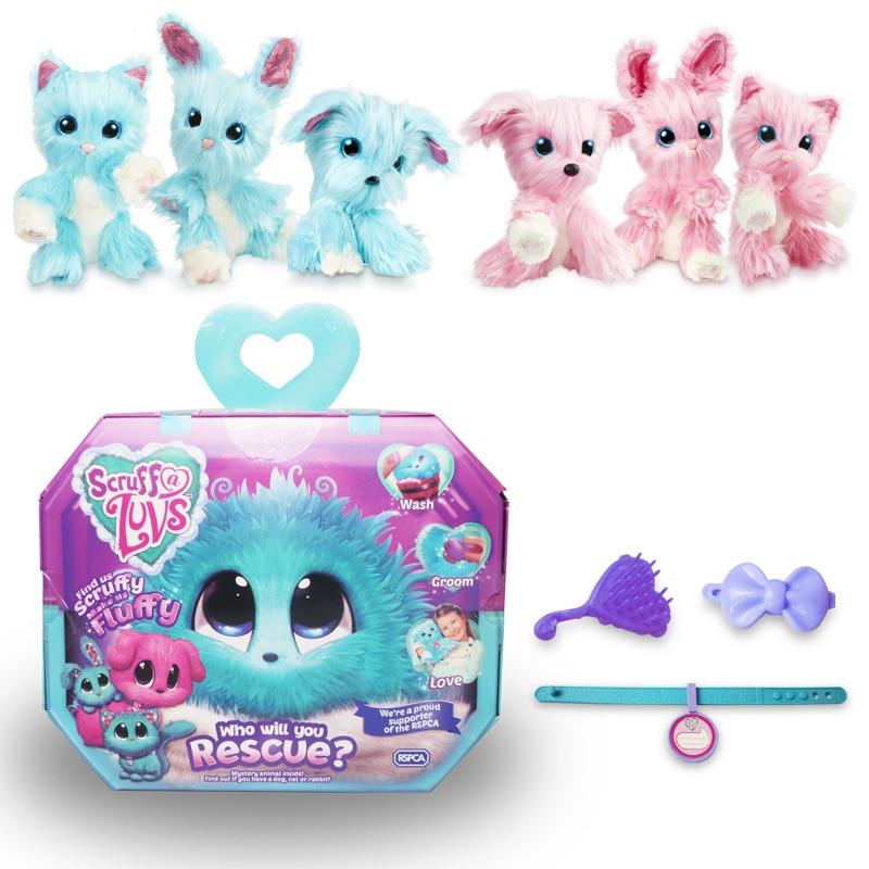 23x20x7CM Scruff A Luvse Plush Toys Bath Dog Cat Rabbit Doll Russian Child Gift 3colors Plush Speelgoede Stuffed Animals Stiche