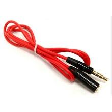 Câble d'extension pour écouteurs, 1m, plaqué or, Jack 3.5mm mâle vers femelle, câble AUX, Audio stéréo, M/F, pour iphone
