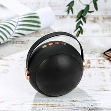 New Arrival Exquisite Bluetooth Mini Speaker With Portable Strap Frosted Metal Wireless Music Ball Box Support TF Card USB Disk(China)