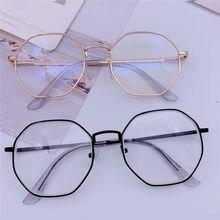 Vintage Anti Blaues licht Gläser Rahmen Runde Objektiv Myopie Optische Spiegel Einfache Metall Frauen Männer Transparent Brillen Rahmen