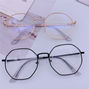 Vintage Anti Blue light Glasses Frame Round Lens Myopia Optical Mirror Simple Metal Women Men Transparent Eyewear Frames