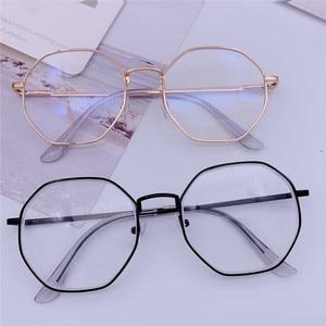 Vintage Anti Blue light Glasses Frame Round Lens Myopia Optical Mirror Simple Metal Women Men Transparent Eyewear Frames