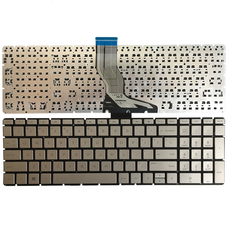 US laptop <font><b>keyboard</b></font> for <font><b>HP</b></font> 15-BW 15-BS <font><b>250</b></font> <font><b>G6</b></font> 255 <font><b>g6</b></font> 256 <font><b>g6</b></font> silver <font><b>keyboard</b></font> image