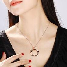 Новая роза цвет золотистый цветок кристалл кулон ожерелье kolye
