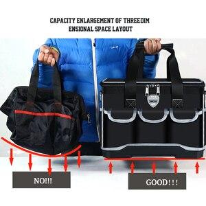 """Image 5 - أكياس أداة متعددة المهام حجم 13 """"16"""" 18 """"20"""" أكسفورد حقيبة ملابس أعلى واسعة الفم كهربائي مجموعة أدوات خاصة أكياس مجموعة أدوات مقاوم للماء"""