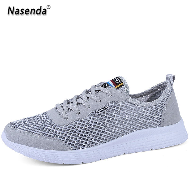 Summer Shoes Woman Flats Breathable Mesh Ladies Shoes Casual Flats Fashion Women Sneakers Breathable Big Size Men Walking Shoes