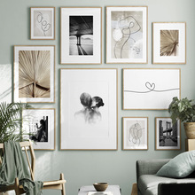 Figure Poster Backdrop-Pictures Painting Abstract-Line Wall-Art Canvas Print Bedroom
