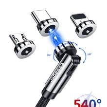 Essager 540 вращаться Магнитный кабель быстрой зарядки магнит зарядное устройство кабель с разъемом Micro USB Type-C кабель мобильный телефон кабель д...
