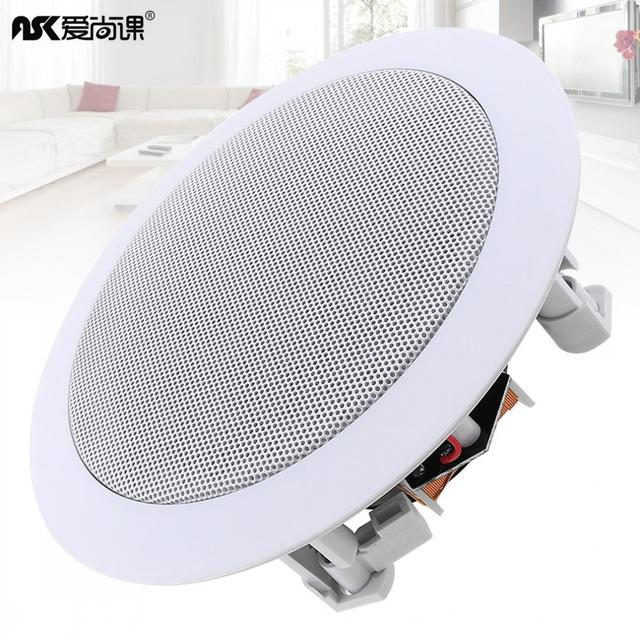 5 Inch 20W Coaxial Fixed Resistance Radio High Fidelity Ceiling Speaker Public Broadcast Background Music Loudspeaker for Home