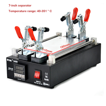UYUE 948H 110/220V Black Metal Body LCD Screen Split Assembly Touch Panel Separator Machine Max 7 inch