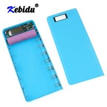 Kebidu ใหม่หลายสี 8*18650 Lithium ion Battery Case Power Bank เชลล์แบบพกพา LCD จอแสดงผลภายนอกกล่องไม่มีแบตเตอรี่