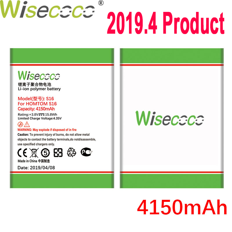 WISECOCO 4150mAh <font><b>S16</b></font> <font><b>Battery</b></font> For <font><b>HOMTOM</b></font> <font><b>S16</b></font> Mobile Phone In Stock Latest Production High Quality <font><b>Battery</b></font>+Tracking Number image