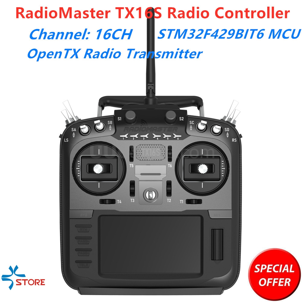 RadioMaster TX16S Hall Sensor Gimbals 2.4G 16CH Multi-protocol RF System OpenTX Radio Transmitter Remote Control For RC Drone