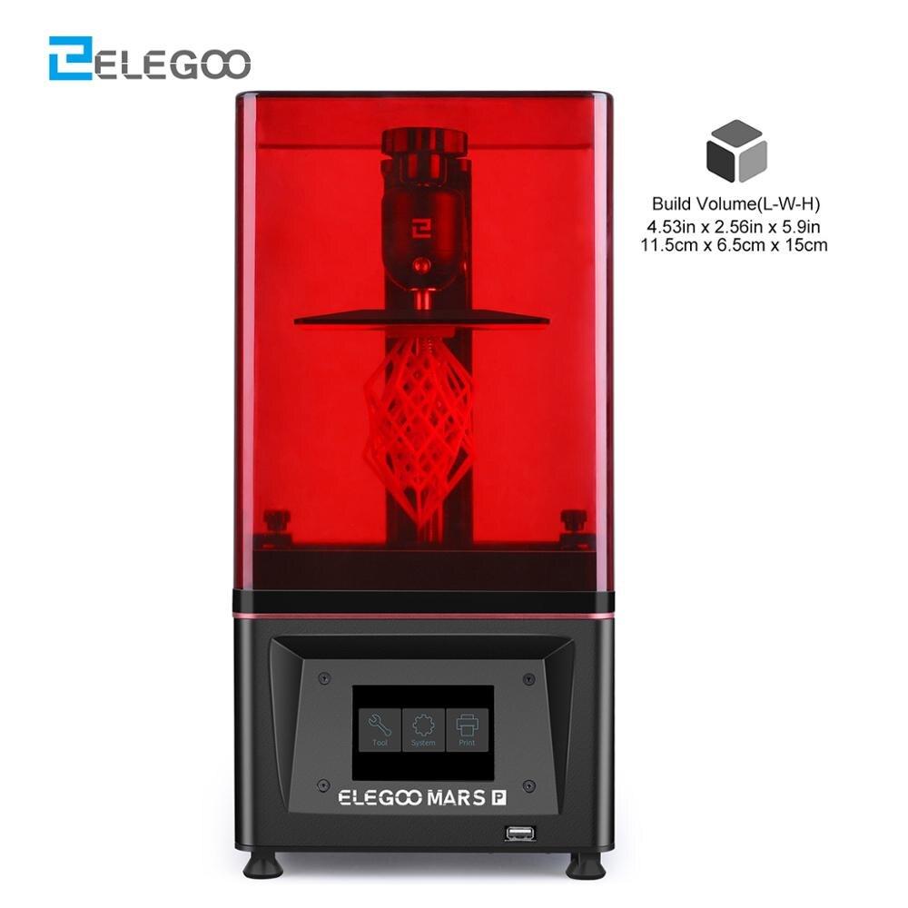 3D принтер ELEGOO Mars Pro, SLA УФ фотоотверждение, ЖК-дисплей, смола, черный