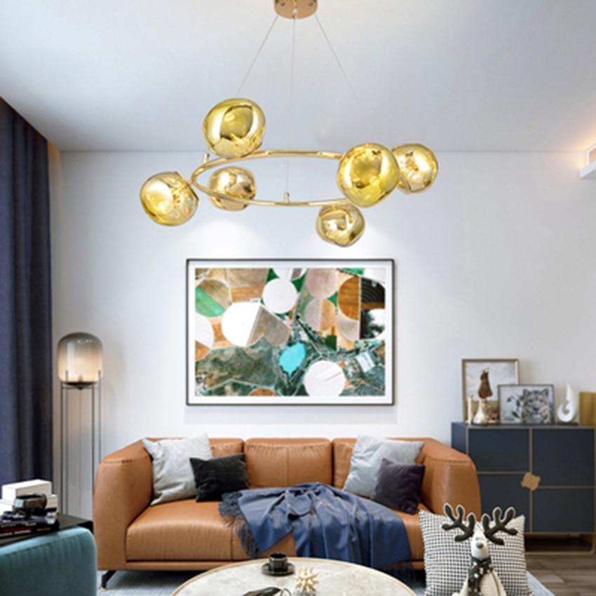 Modern LED Living Room Chandelier Lighting Creative ...