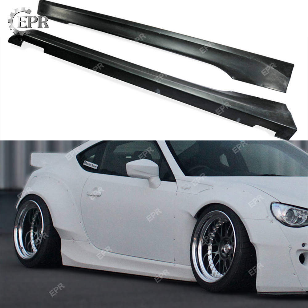 FRP Side Skirt For BRZ FT86 GT86 FRS RB Style Ver 2 Glass Fiber Side Skirt Body Kit Tuning Trim For FT86 GT86 BR Z Racing|Body Kits| |  - title=