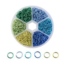 Connecteurs d'anneaux de saut ouverts en aluminium, 6 couleurs 6mm, pour colliers ras du cou, chaîne, Bracelet, Maille, fabrication de bijoux, 1080 pièces