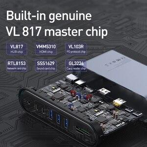 Image 4 - Baseus 17 in 1 USB C HUB Tipo C a HDMI RJ45 VGA USB 3.0 PD Adattatore di Alimentazione Docking stazione di per MacBook Pro Laptop USB C Hub