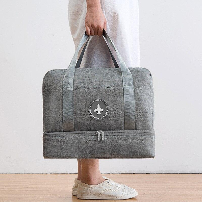 JULY'S DOSAC Travel Bag Multifunction Large Capacity Suitcase Dry Wet Separation Storage Bag Portable Plane Use Waterproof