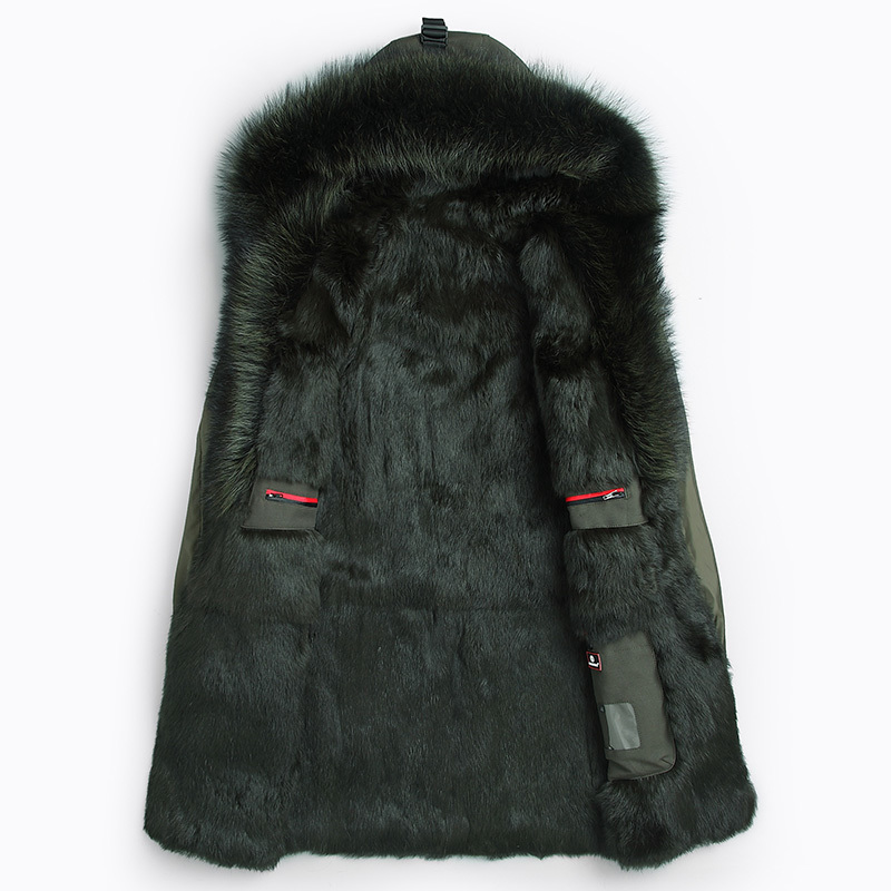 Mink Fur Liner Parka Homme Winter Jacket Men Raccoon Fur Collar Long Parkas Plus Size Winterjas Heren P8009-2 MY1340