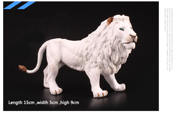 Original Wild Animals White Lion Figurine Catmounts Figures Kids Educational Toys For Children