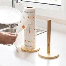 Японский стиль кухня счетчик древесины стоящая бумага полотенца Держатель бытовые контейнеры полка ткани дозатор рулонной бумаги стойки