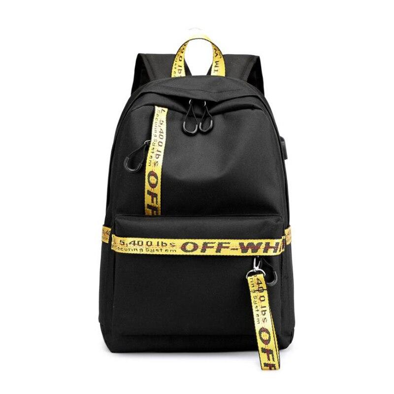 2019 New Leisure Backpack Student Bag USB Charging Socket Backpack