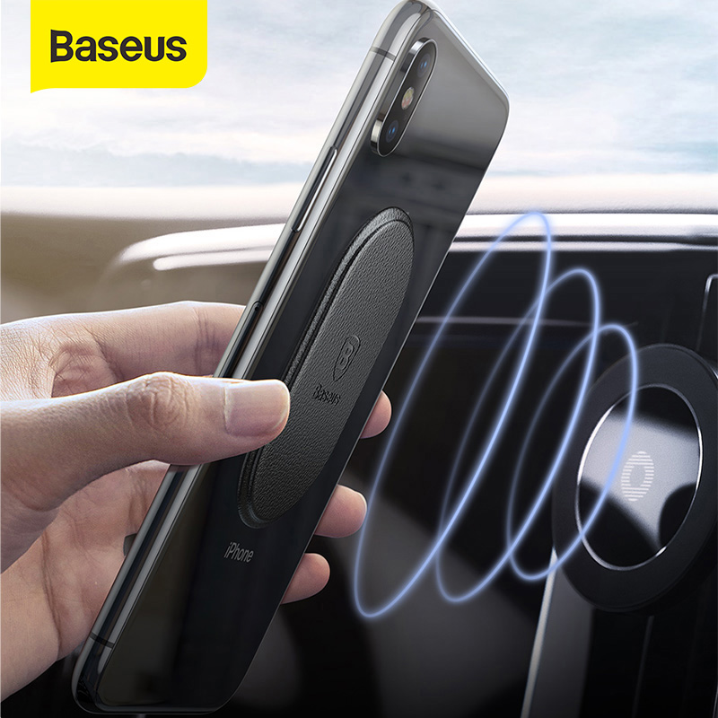 Baseus Metal Plate Magnetic Disk For Car Phone Holder Magnet Metal Plate Iron Sheets For Air Vent Mount Car Holder Stand