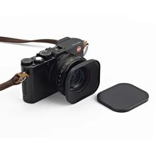 אוניברסלי 43mm CNC אלומיניום כיכר מתכת בורג הר עדשת הוד עם כובע עבור Canon Nikon Sony Fuji לייקה Voigtlander 43mm עדשה
