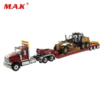 For Collection 1/50 International Hx520 Tractor & Lowboy Trailer & 12M3 Motor Grader DM 85598 Model for Boys Holiday Gifts