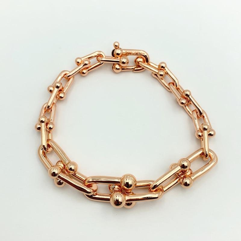 Hot Sale Gradient U-shape Chain Bracelets Bangles for Women Girl Ladies Valentine Gift1:1 S925 Sterling Silver Brand Jewelry