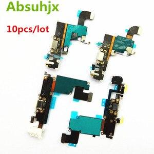 Image 1 - Absuhjx 10 Chiếc Cổng Sạc Flex Cho iPhone 6S 7 6 Plus USB Dock Conector Dành Cho iPhone 8 X XR XS Max 5 5S SE