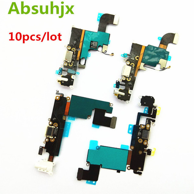Absuhjx 10 Chiếc Cổng Sạc Flex Cho iPhone 6S 7 6 Plus USB Dock Conector Dành Cho iPhone 8 X XR XS Max 5 5S SE