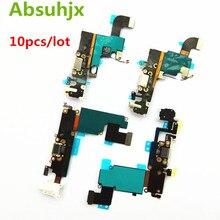 Absuhjx 10 pièces Port de charge câble flexible pour iPhone 6S 7 6plus chargeur USB Dock conecteur pour iPhone 8 X XR XS Max 5 5S SE