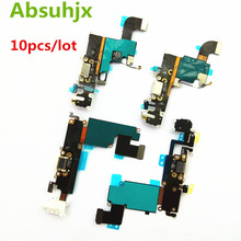 Absuhjx 10pcs Charging Port Flex Cable for iPhone 6S 7 6 Plus Charger USB Dock Conector for iPhone 8 X XR XS Max 5 5S SE