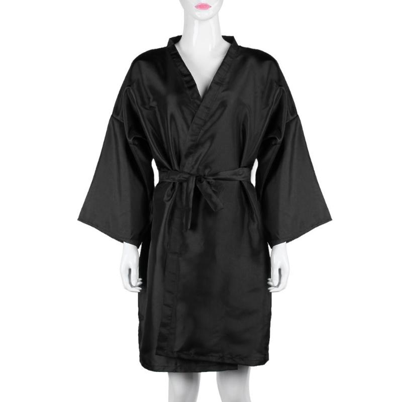 Hairdressing Kimono Gown Hair Shampoo Clothes Hairdresser Overalls Beauty Pro Salon Barber SPA Guest Bathrobe Gown Peluqueria
