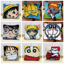 Japanese Anime Cartoon Character Carpet Embroidery Pillow Making Kits Crochet DIY Do-It-Yourself Smyrna H