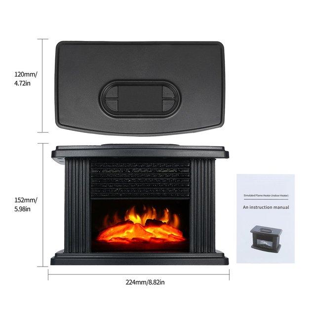 1000W Electric Fireplace Heater 6
