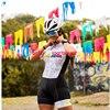 Cor fluorescente roupas femininas conjuntos de ciclismo triathlon terno manga curta skinssuit conjuntos maillot ropa ciclismo macacão macacão ciclismo feminino kafitt roupas femininas com frete gratis roupa de ciclismo 9