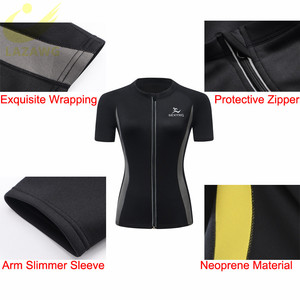 Image 3 - LAZAWG  Hot Sweat Weight Loss Shirt Neoprene Body Shaper Sauna Jacket Suit Workout Training Clothes Fat Burner Top Full Zip Up