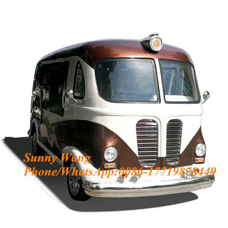 Mobile Food Cart Street Food Truck For Soft Ice Cream Machine Mobile Food Trailer Electric Food Van