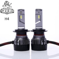 2Pcs DC12V 24V H4 HB2 9003 MINI LED Car Headlights Far and near Lights One Refit Super Spotlight Bulb High and low White bulb