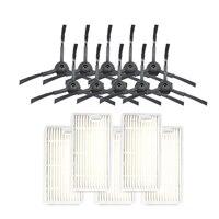Filtro escova lateral para dibea x600 panda x500 ecovacs cr120 cr130 para chuwi v3 para ilife x5 v5 v3 + v5pro aspirador de pó peças