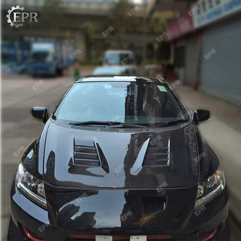 Carbon Fiber Vented Hood For Honda CRZ 2012+ A Style Carbon Hood Body Kit Tuning Trim For CR-Z Racing Part