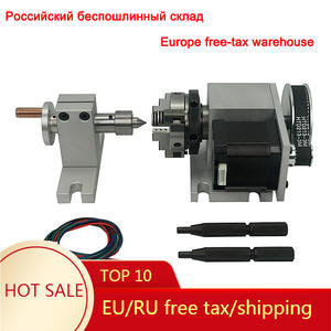 4-Jaw Chuck-Rotary-A Router Tailstock Milling-Machine Engraver 4-Axis-Kit 50MM for CNC